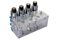 Equipped manifold block