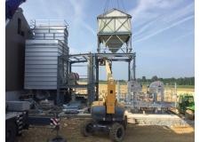 Grain dryer and silos