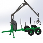 FARMA crane C5.0 G3 - The compact but powerful crane in 5 and 10 kNm versions is compatible with FARMA trailers and 3-points, also suitable for chippers and forwarders.