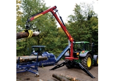 Hydraulic tractor crane DOT 50K - Off-road tractor crane with own hyraulic system, 7m of reach