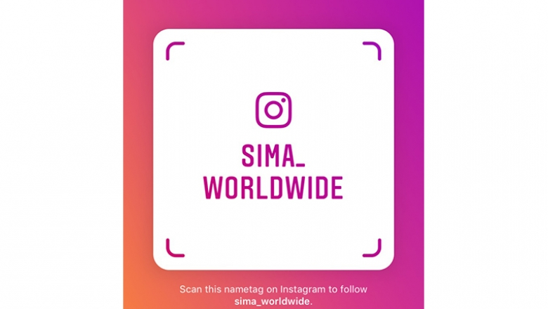 SIMA Instagram account