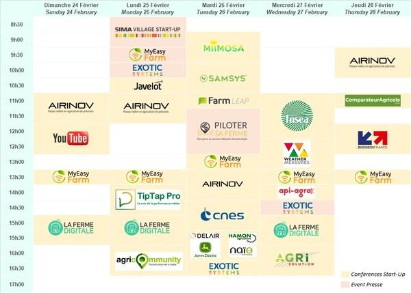 Photo du Planning Startups