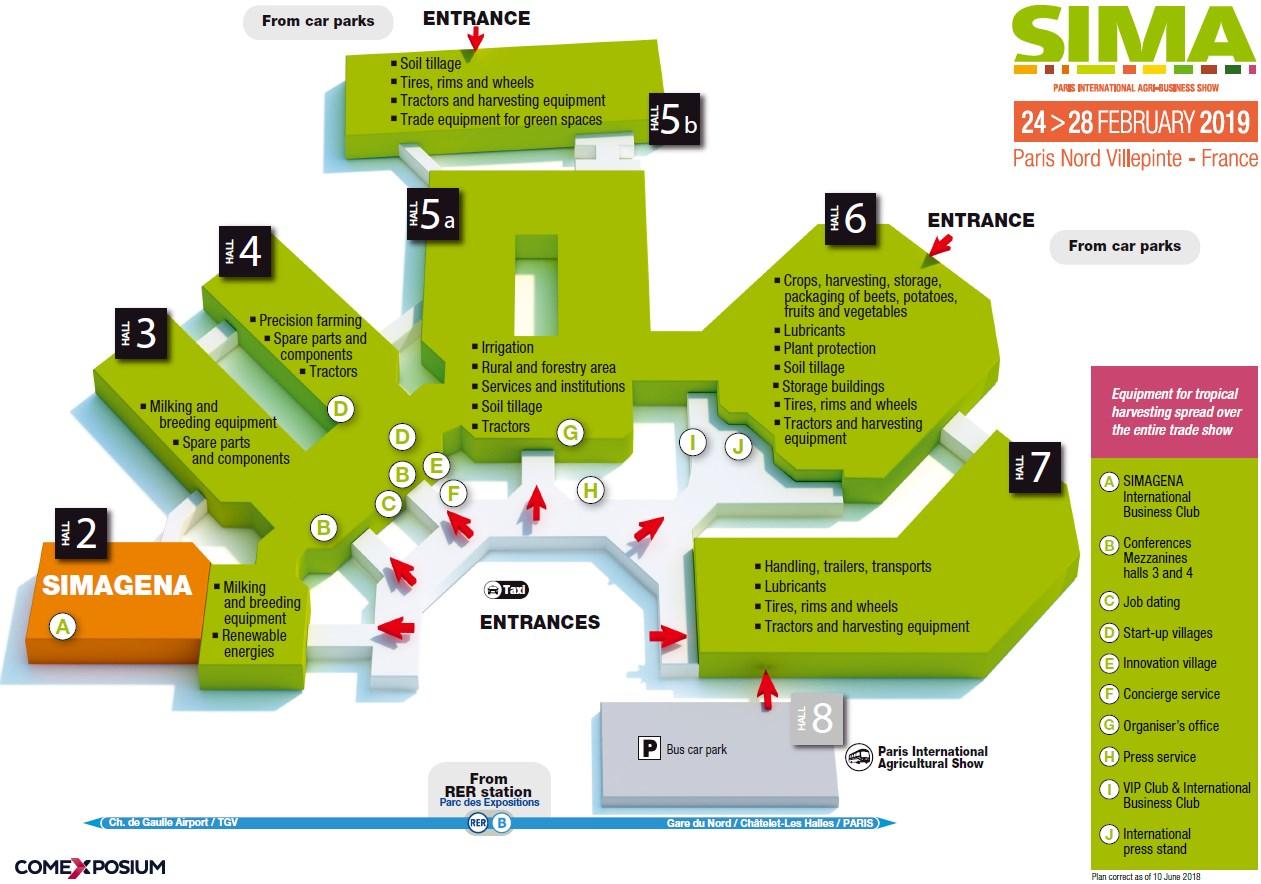 SIMA 2019 plan